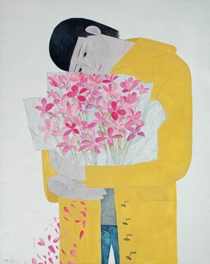 韦嘉 《美丽与哀愁都微不足道》 200×160cm 布面油画 2005