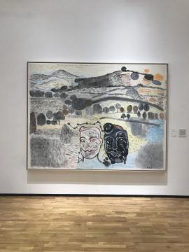 《兵马俑在沂蒙山》 布面丙烯 269×206cm 2017年