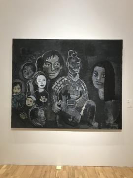 《 黑色绘画》 布面丙烯 227×182cm 2000年