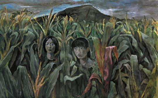 《沂蒙山 05》布面丙烯 240×150cm 2002年
