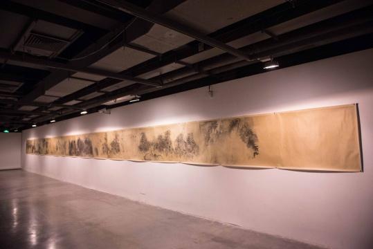 冰逸 《囙:千里江山》 水墨长卷,2011-2015