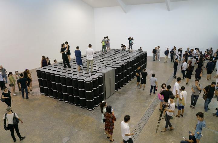 当代唐人艺术中心展出《塔克拉玛干计划》现场