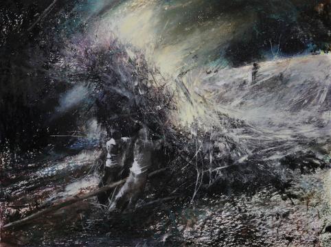 刘海辰《光的质量》36x48cm纸本油画棒 2017
