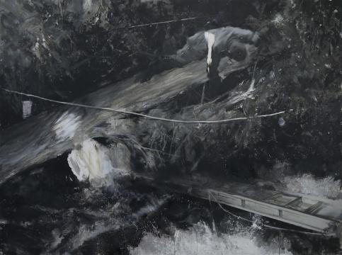 刘海辰《坚硬时刻》175x235cm布面油画 2017