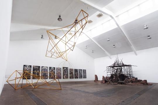 """""""延时""""展览现场,当代唐人艺术中心,北京"""