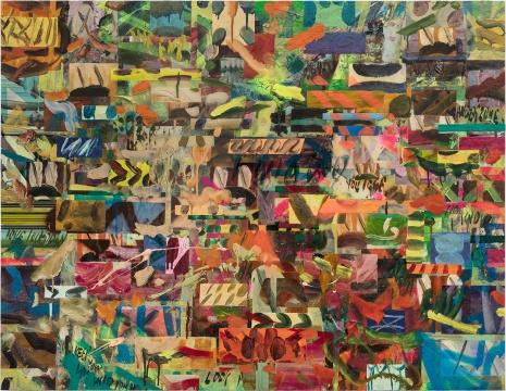 ༼ つ ◕_◕ ༽つ 100 x 129 cm 布面油画,丙烯,树脂,喷漆,数码打印, 2018