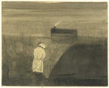 《泣奔》 13.5 x 17 cm 纸本油墨 2013
