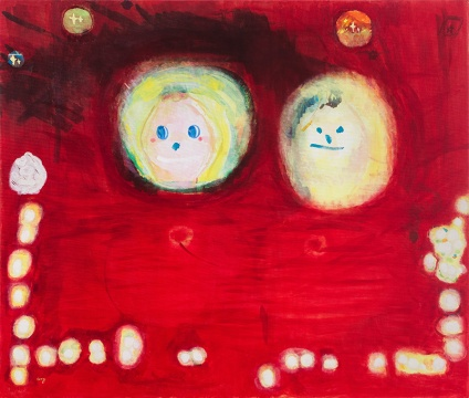 《葫芦先生和葫芦小姐》 布面油画 130x110cm 2018