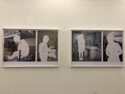 王淋《@ 吞噬》系列,2016,艺术微喷、大头针 (入围2012第四届三影堂摄影奖并获资生堂优秀女性摄影师奖)
