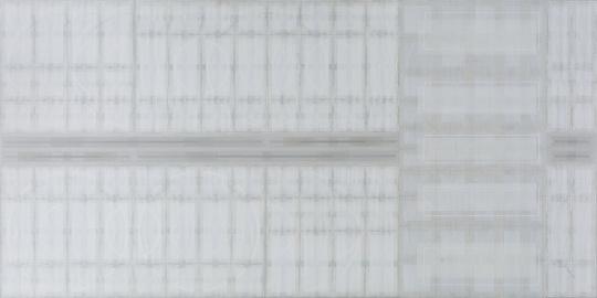 祁奋骏 《2:1 No.1》 布面丙烯综合材料 150×300cm2017