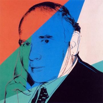 安迪·沃霍尔《彼得·路德维希肖像》 105×105cm 亚麻布丝网版画 1980