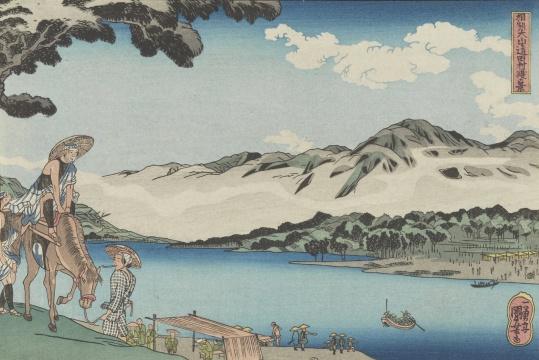 葛饰北斋 《风景》 24×35cm 木版套色 年代不详