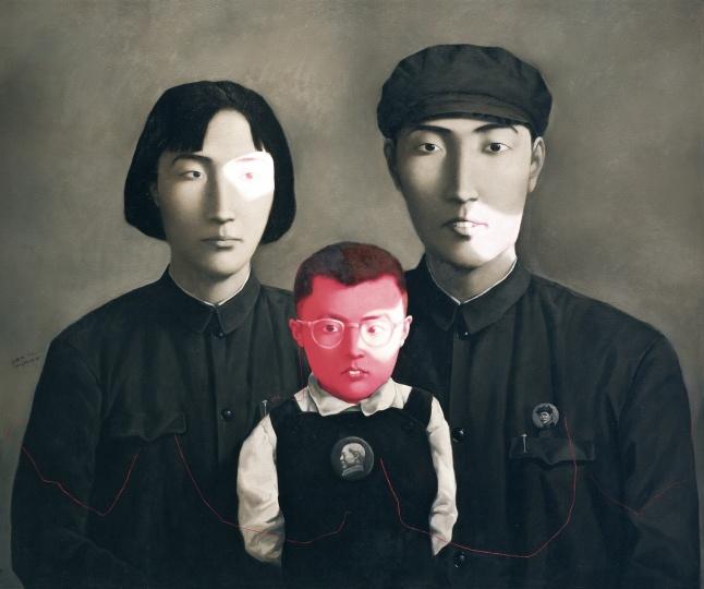 《血缘-大家庭:全家福1号》150×180cm布面油画 1994年