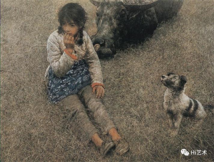 《春风已经苏醒》 95x129cm布面油画 1982