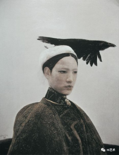 《乌鸦是美丽的》 89.8x70cm 布面油画 1988