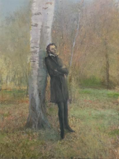 《普希金.自由》 200×150cm 布面油画 2017