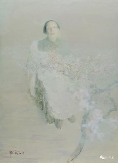 《母亲》180x130cm 布面油画 2003
