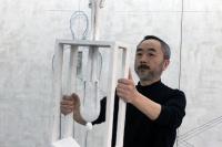 在北京公社,与王鲁炎探讨对应的非对应性,王鲁炎