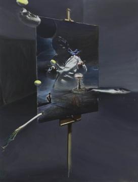 贾蔼力 《无题》 200×150cm布面油画 2018