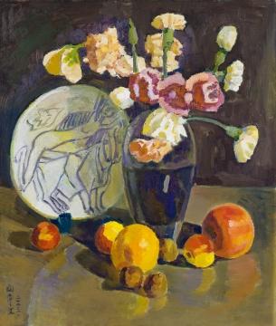 闵希文 《青花静物》 60.5×50cm 布面油画 2003