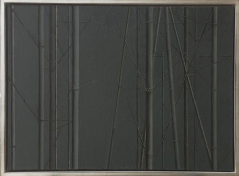 刘野 《竹子的构图4号》 50×70cm 布面丙烯 2011