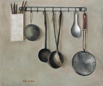 段建伟 《炊具-1》 50×60cm 布面油画 2009