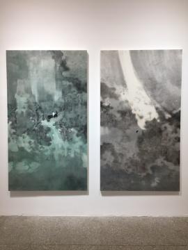 《双下山NO.2》 217×123cm 纸本设色 2018《双下山NO.1》 217×123cm 纸本设色 2018