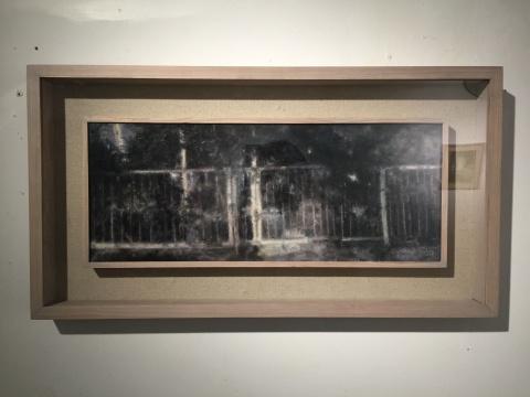 《树影》 20×50cm 布面油画 2014
