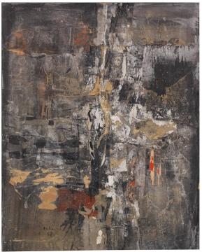 卡尔·弗雷德·达门《乐章》70.5 x 55.5 cm 纸本综合材料拼贴,坦培拉 1957