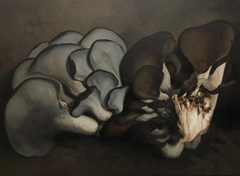 闫冰《蘑菇2号》布面油画 130 ×180 cm 2018