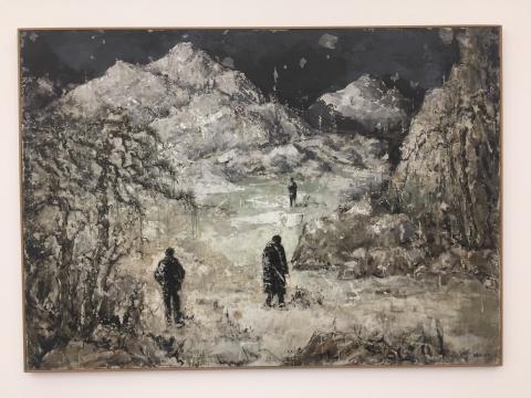 徐弘 《远山NO.2》 118×166cm 木板综合材料 2018