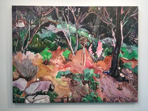 许宏翔 《平的风景》 200×260cm 布面油画 2017