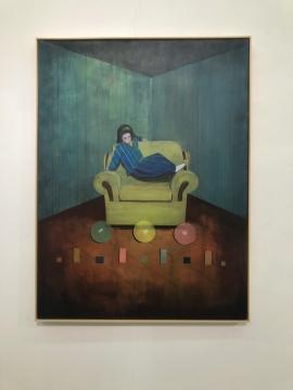 黄鹤作品中的空间与结构,抽象与具象之间的转换非常有意思,他在不断