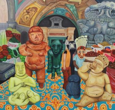 马克·纳德《Mesticulture》 布面油画 260 x 250 cm 2018