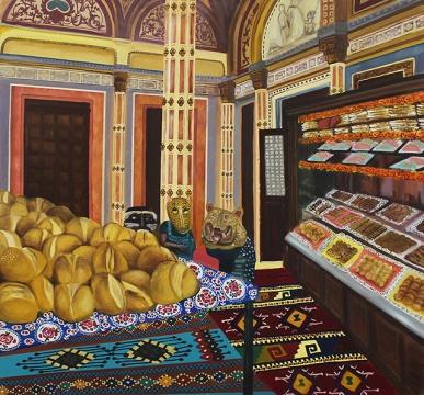 马克·纳德《 El Breado, Pan and Dulces》 布面油画 125 x 135cm 2017