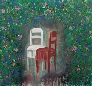 《梦中的花园》 195×210cm 布面油彩、丙烯 2010-2017.09