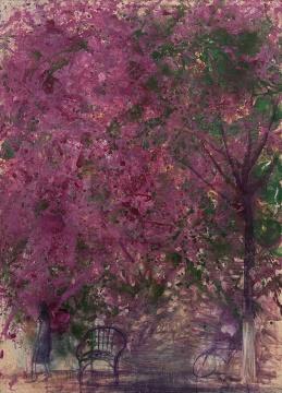 《六月的三叶花 ·新闻南路》 90×120cm 布面丙烯 2017