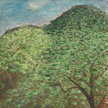 《圭山写生•春风中的核桃树》150x150cm 布面丙烯 2016.05