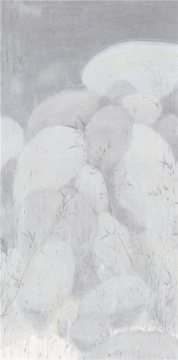 《天池竹石之二》247.5x123.5cm 水墨宣纸 2017