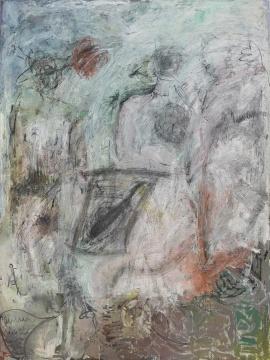 张力晖 《面具和仪式》 150×200cm 布面油画 2016