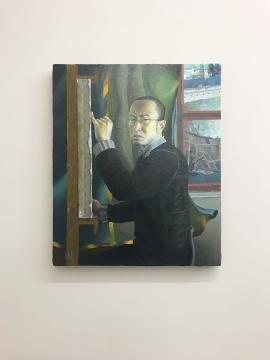 """二楼展厅展出的""""自画像系列:王一凡"""""""