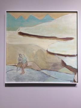 《人与海4》60×60cm 木板油画 2018