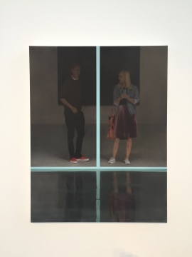 《十字》 114.9×90cm 布面油画 2018