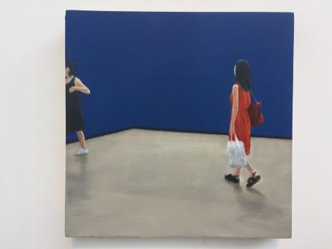 《蓝屏》20×20cm布面油画 2018