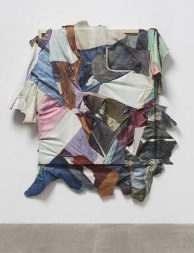 《Contemporary Painting I》195×160 cm (木框:150×130 cm) 布面油画(收集而来的大量他人油画作品在分割裁剪后重新拼接缝合而成)2018