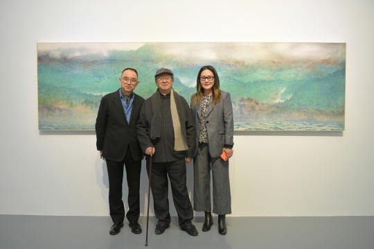艺术家刘云、国家画院院委李宝林、艾米李画廊负责人李颖