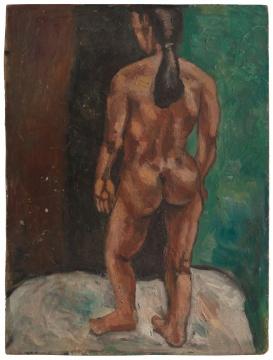 刘炜 《无题》50 x 38 cm木板油画1986