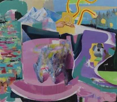 王海洋《无题》210 x 240 cm布面丙烯2015