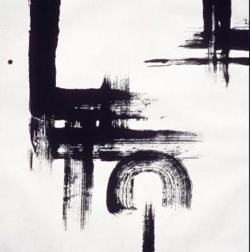 《无题-作品71-84》宣纸、水墨 101x102cm 1984