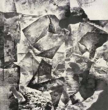 《无题-作品77-84》宣纸、水墨 100x98cm 1984